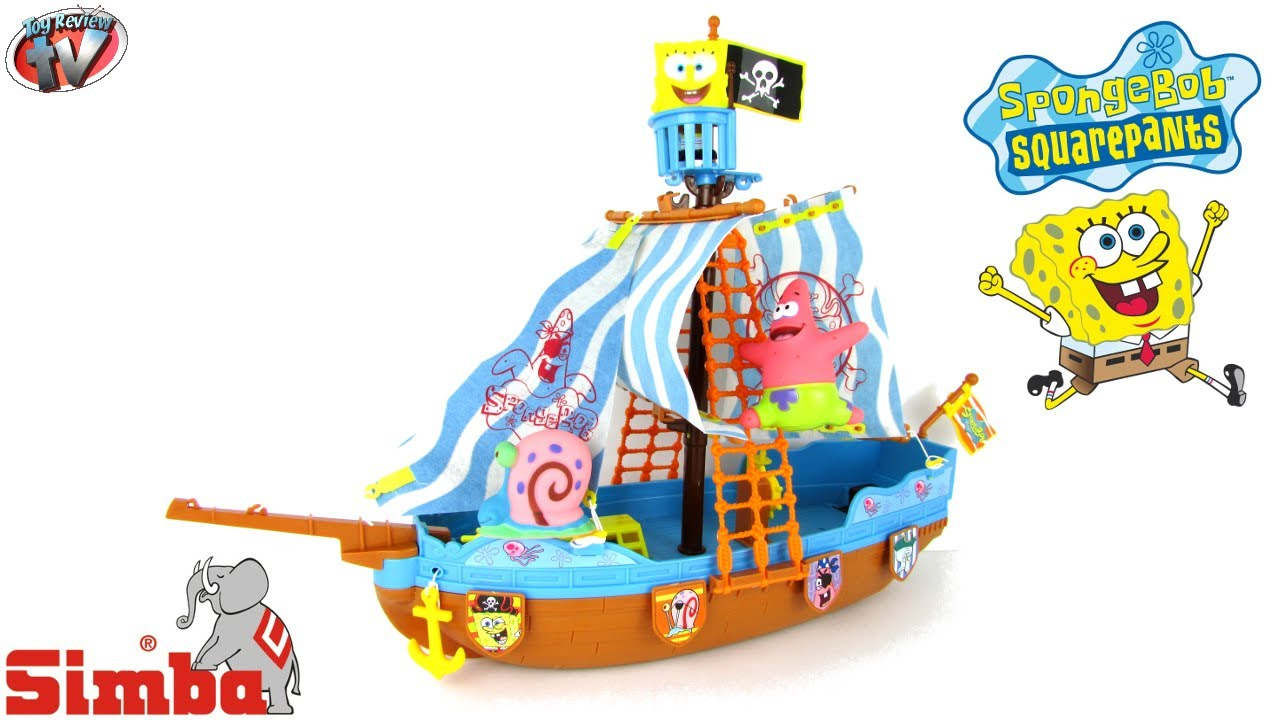 SPONGEBOB SQUAREPANTS Pirate Ship Playset Toy Review Family Unboxing ...