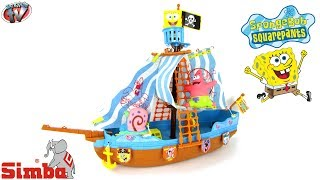 Spongebob Squarepants Pirate Ship Playset Toy Review, Simba Toys