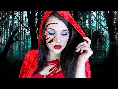Little Red Riding Hood | Halloween Makeup Tutorial | Cherry Wallis ...