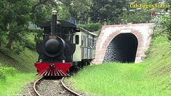 KLAKSON SULING    Kereta Api Uap keluar terowongan Idjo