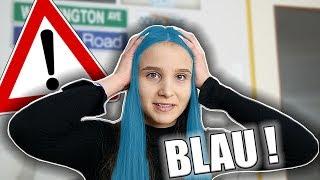 Haare färben in BLAU  !  - Celina