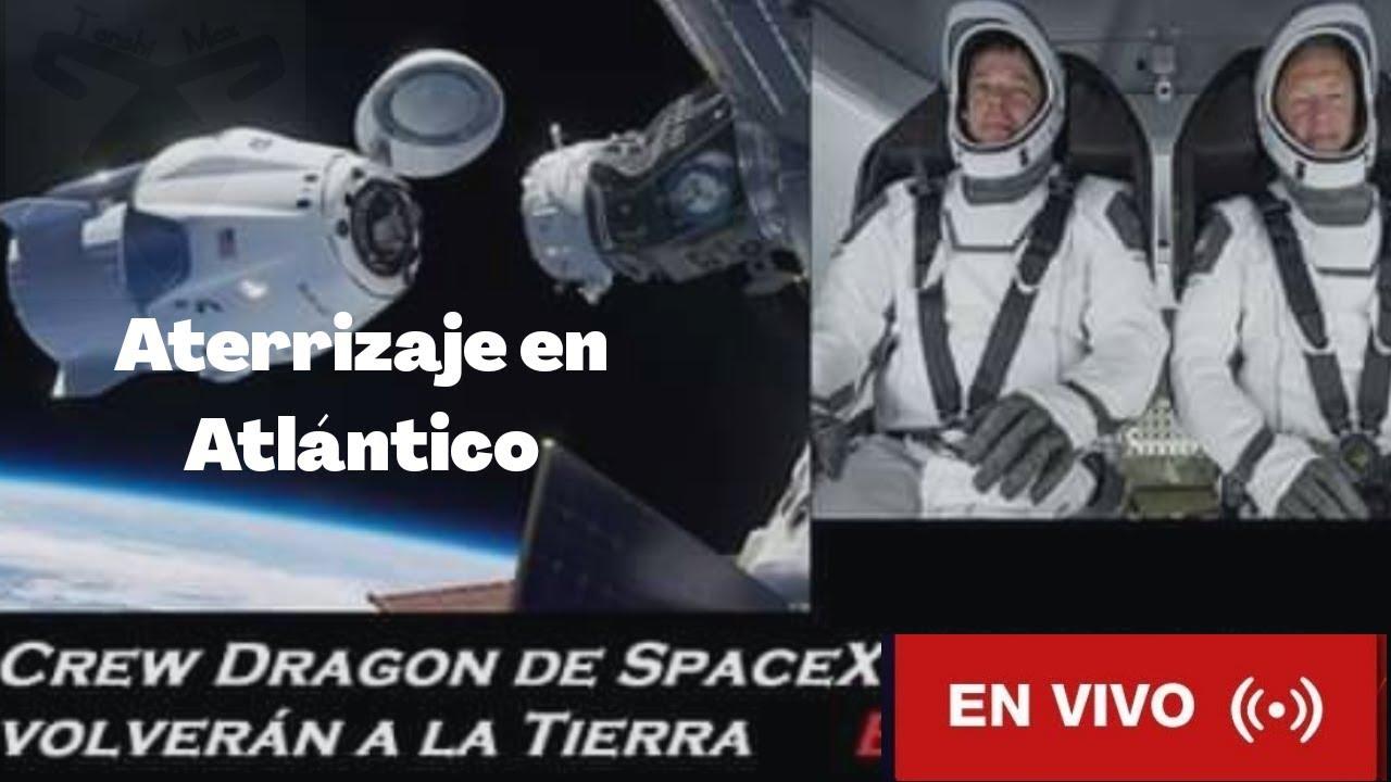 Astronautas entran en la atmósfera , regresando a la tierra, momento histórico