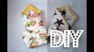 DIY Плед для новорожденного на выписку своими руками / Конверт с бантом на выписку