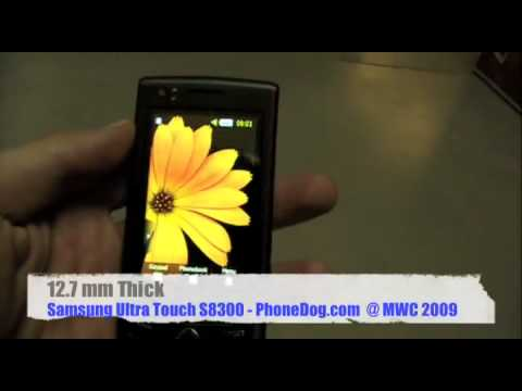 Samsung Ultra Touch S8300 - Hands-On