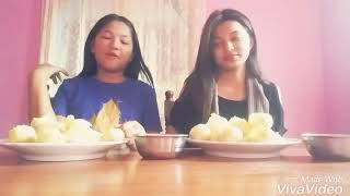 pani puri challenge with my sister