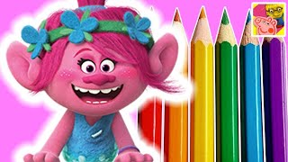 How To Draw Princess Poppy From Trolls Full Movie 2016 | DIY Drawing Kids Craft Ideas