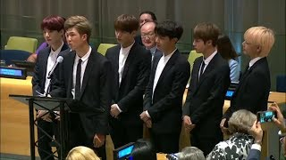 K-Pop Band BTS Addresses United Nations: I Was Lucky I Didn't Give It All Up