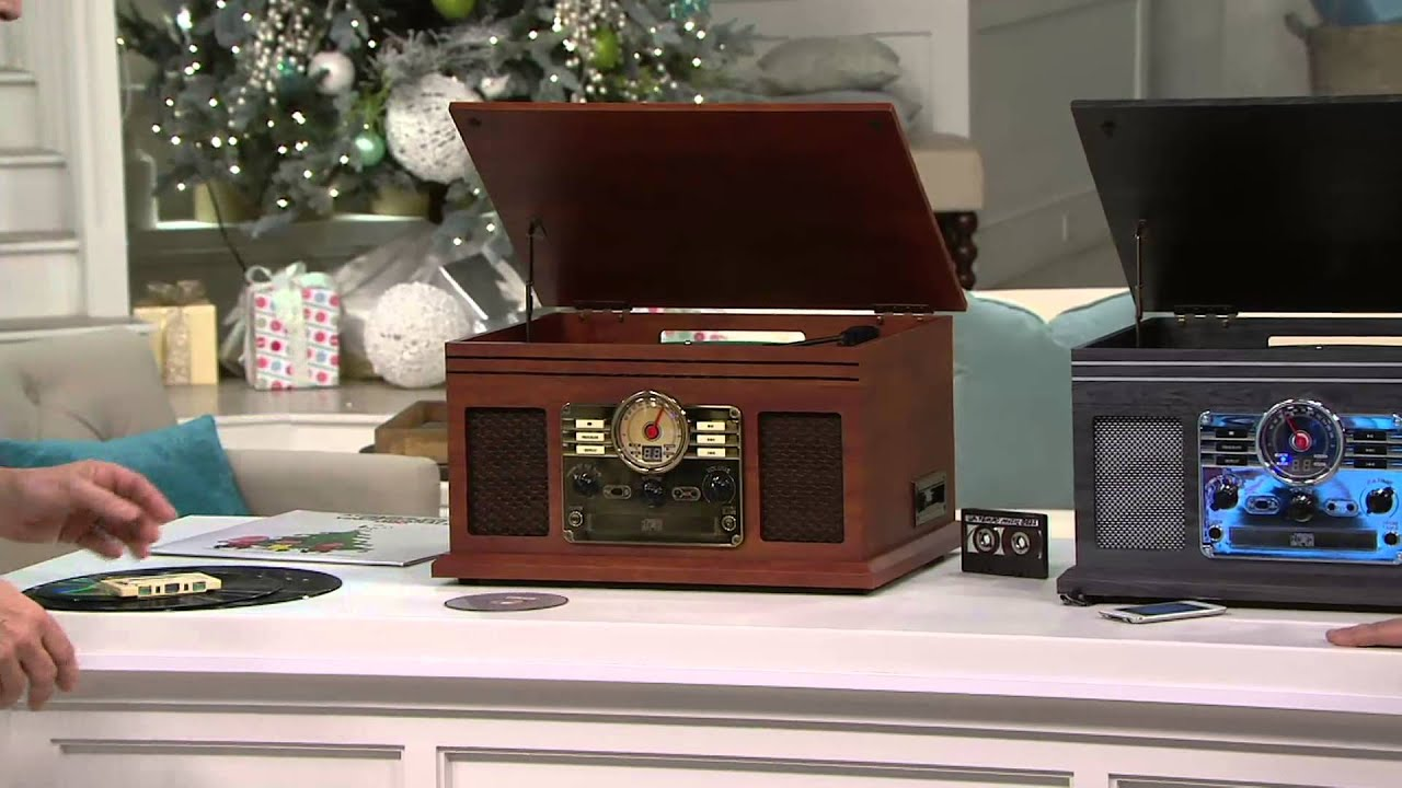 Classic 6 In 1 Turntable Music Center With Bluetooth On QVC   YouTube