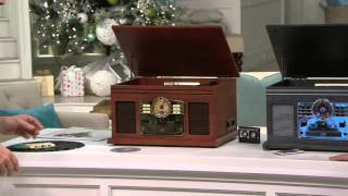 Classic 6-in-1 Turntable Music Center with Bluetooth on QVC