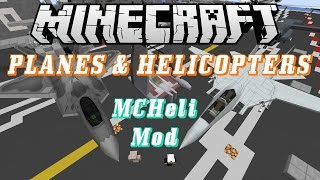 Minecraft Mod Review - MCHeli Mod 1.7.10 - Planes, Helicopters, and Boats!