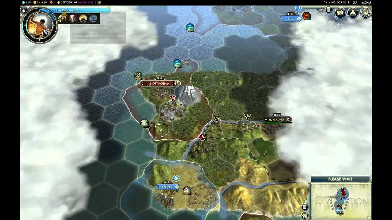 Let\'s Play Civ 5 - England - Giant Earth Map - Episode 1 - Part 4 ...