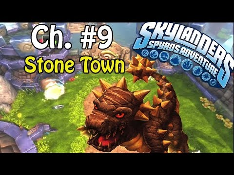 Skylanders Spyro's Adventure Wii Walkthrough Chpater 9 Stone Town 100%