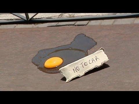 ¿Se puede freír un huevo en plena calle?