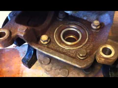 Dodge Ram 2500 wheel bearing hub removal and separation from knuckle