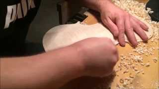 Violin: Carving the Bottom Plate - Part I
