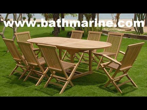 BATHMARINE.COM ТИКА Садовая мебель Столы гамаки открытой террасы дешевых деревянных стульев Скамейки