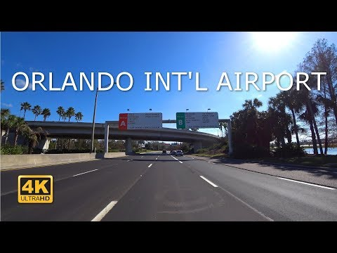 Driving around Orlando International Airport (4k) MCO