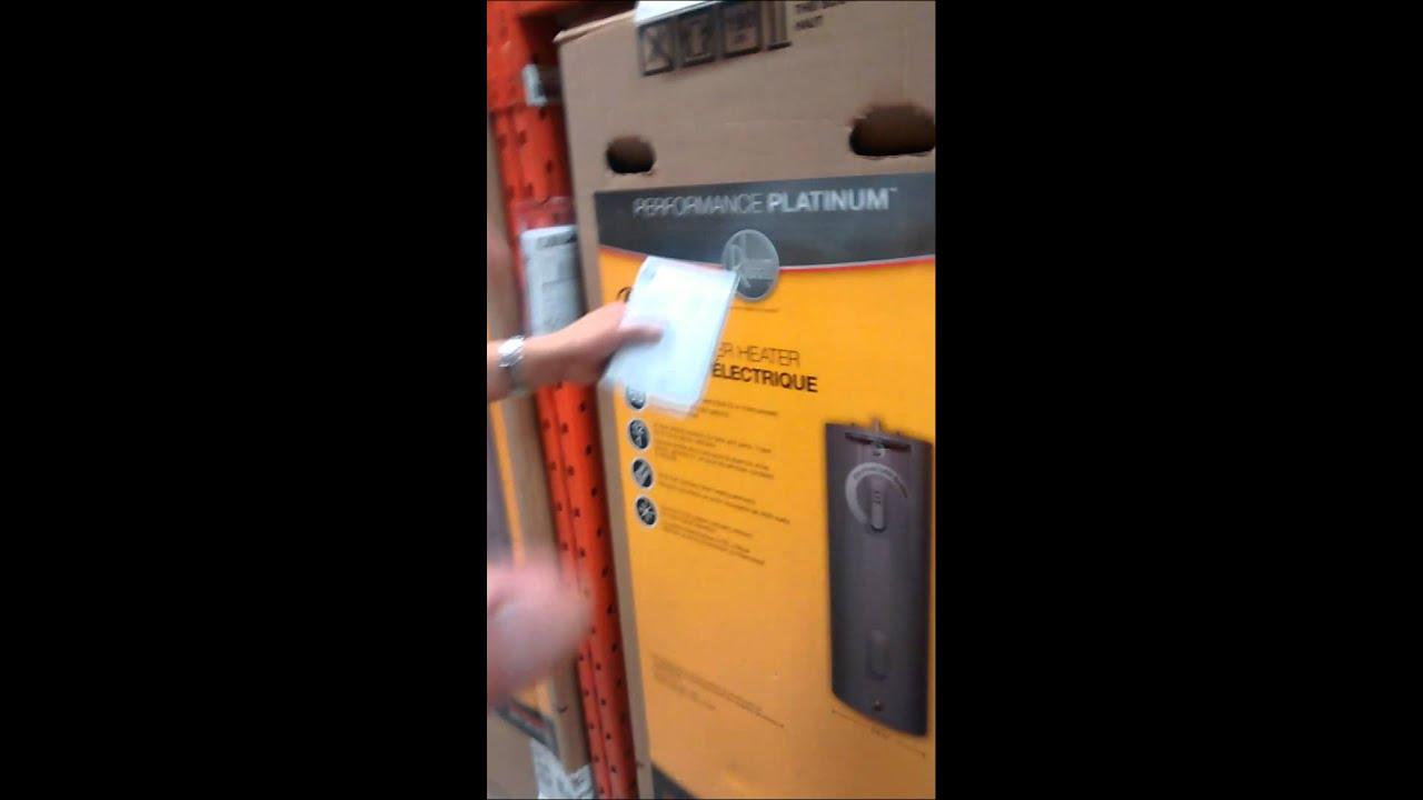 Home Depot Canada Lifetime Water Heater Warranty