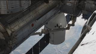 SpaceX Dragon Cargo Spacecraft Attached to the International Space Station