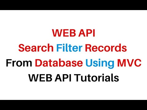 WEB API Search Filter Records In MVC Asp.net C# 4.6