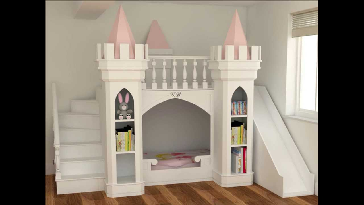 Bedroom furniture for girls castle - Luxury Princess Castle Bed Princess Bedroom Furniture Bedroom Design Inspirations England Youtube