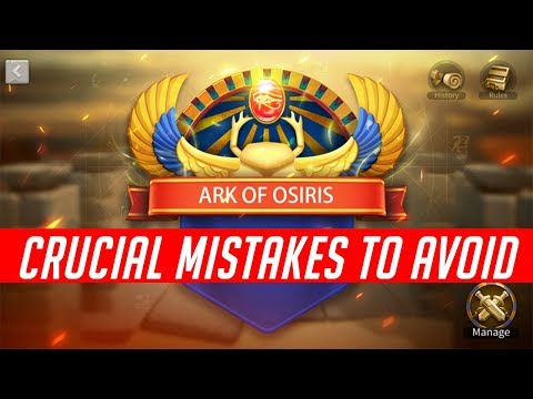 Crucial Mistakes to Avoid + Tips in Alliance Battlegrounds Ark of Osiris | Rise of Kingdoms
