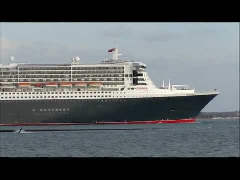 QUEEN MARY 2 Last Sailing Under British Registry 24 Nov 2011