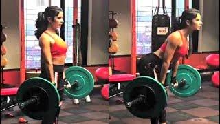Katrina Kaif Weight Lifting Workout Video