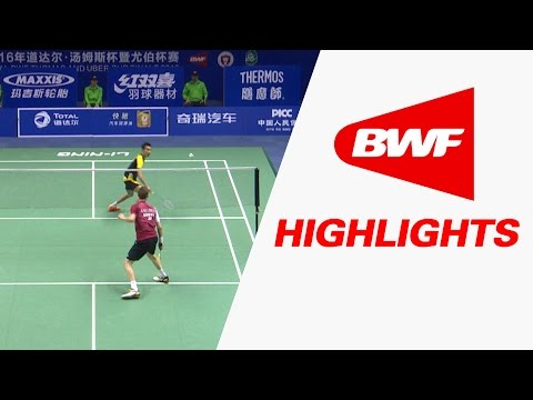 TOTAL BWF Thomas & Uber Cup Finals 2016 | Badminton SF-Thomas Cup-MAL vs DEN-Highlights