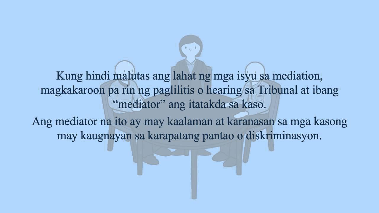 Human Rights: Mediation (Tagalog)