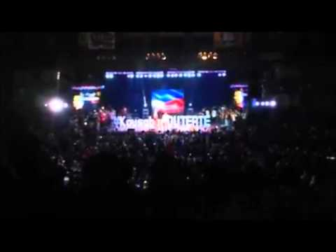 DUterte in Cebu Coliseum