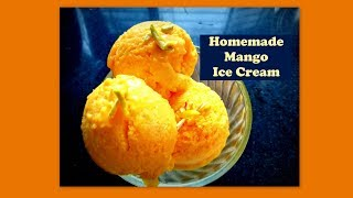 Mango Ice Cream - Ice Cream recipe in Kannada - Homemade icecream recipe