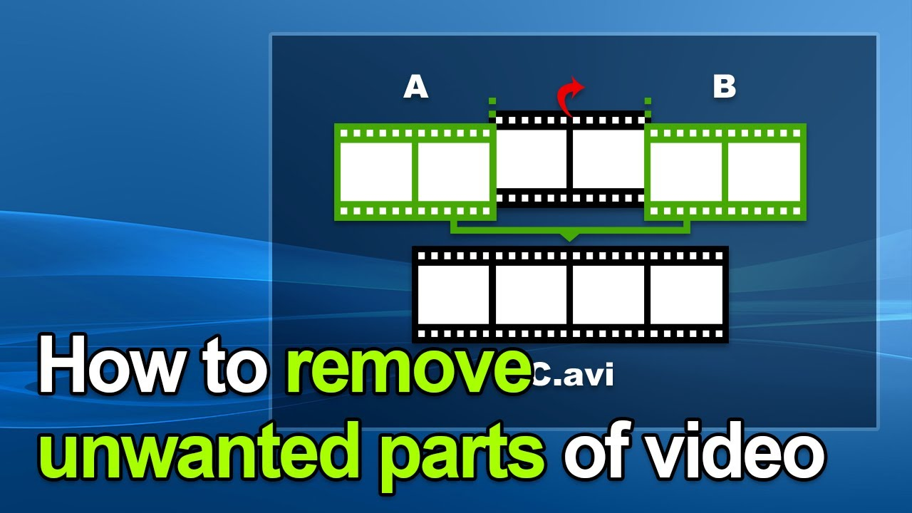 How to Remove Unwanted Parts (Ads in video, advert/advertising/commercial break) - Bandicut