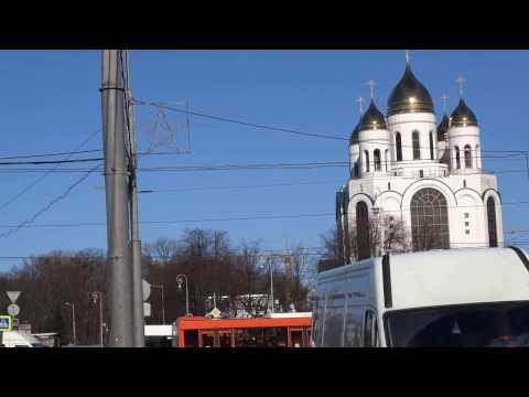 Гвардейский проспект и площадь Победы в Калининграде