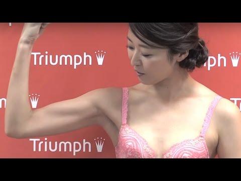 「ミス・ワールド」日本代表、自慢の筋肉披露!「2016トリンプ・イメージガール発表会」会見2