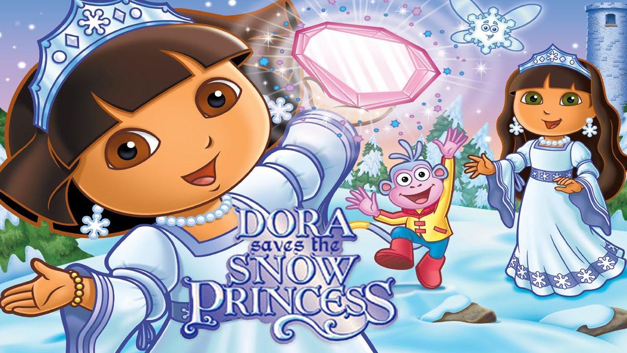 6 dora saves the snow princess video game gameplay videospiel game movie for kids youtube - Princesse dora ...