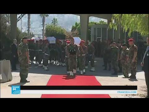 مراسم تشييع وطنية لجثامين الجنود اللبنانيين الذين قتلهم تنظيم -الدولة الإسلامية-