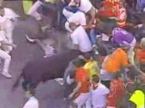 Pamplona Bulls Goring Highlights