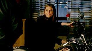 "Castle 8x18 End Scene Castle &  Beckett - Her Motorcycle /bike ""Backstabber"" Season 8 Episode 18"