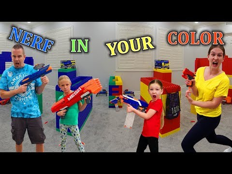 Nerf Battle In Our Color!!!