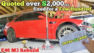 "I Brought my Flood Salvage BMW M3 to an ""Honest Mechanic.""  Here's How Much $ they Quoted!"