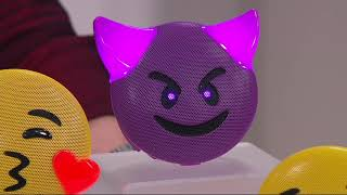 JAMOJI Bluetooth Wireless Emoji Speaker with LED Lights on QVC