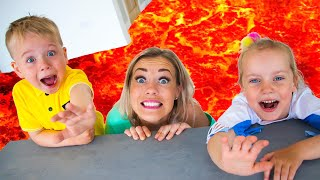 The Floor is Lava challenge with Gaby and Alex