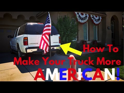 EASIEST WAY To Mount A Flag Pole To SUV Or Truck