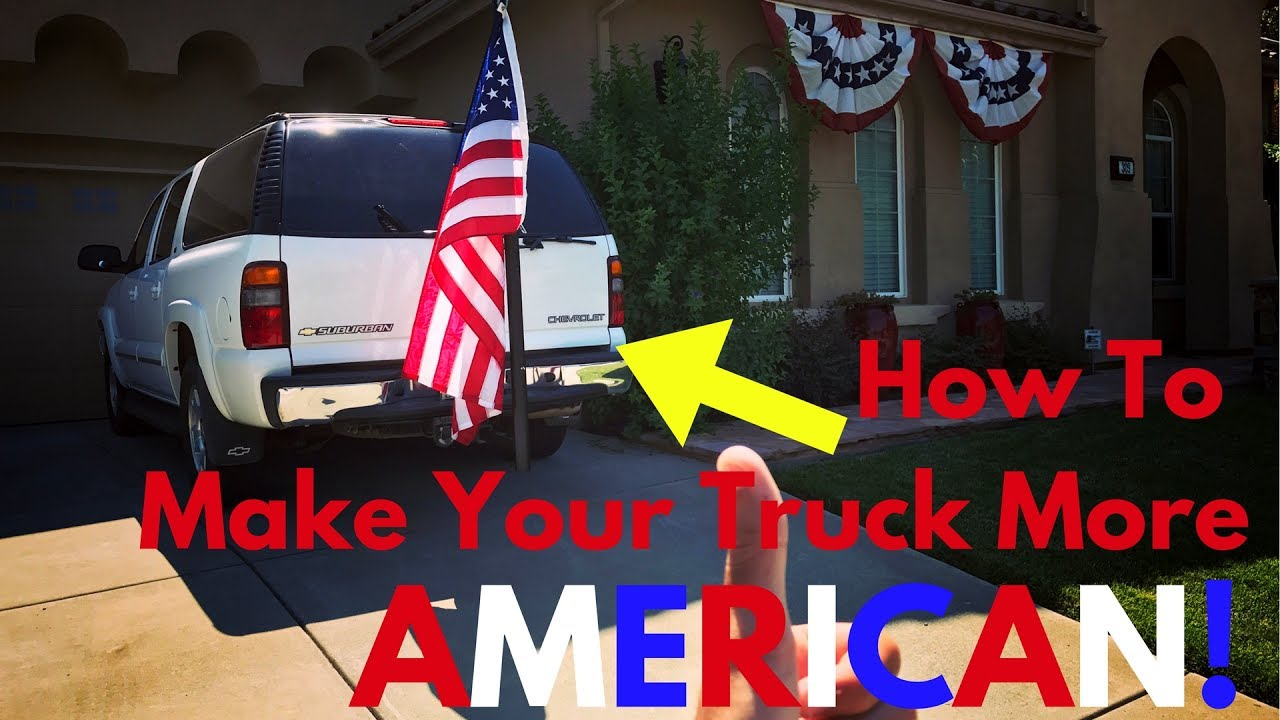 Easiest Way To Mount A Flag Pole To Suv Or Truck Youtube