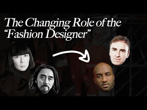 Is The Role Of The Fashion Designer Changing Raf Simons At Calvin Klein Virgil Abloh At Lv Youtube