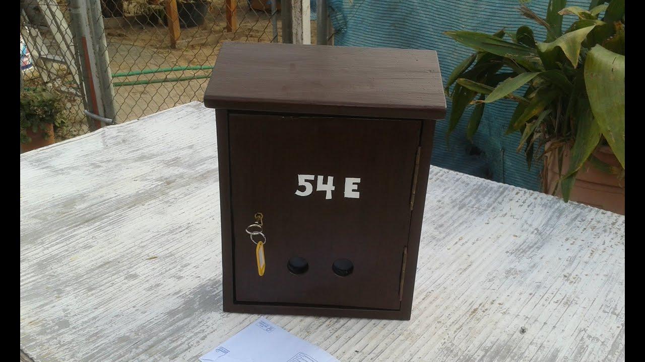 Como hacer un buz n casero how make a mailbox youtube for Bar casero de madera