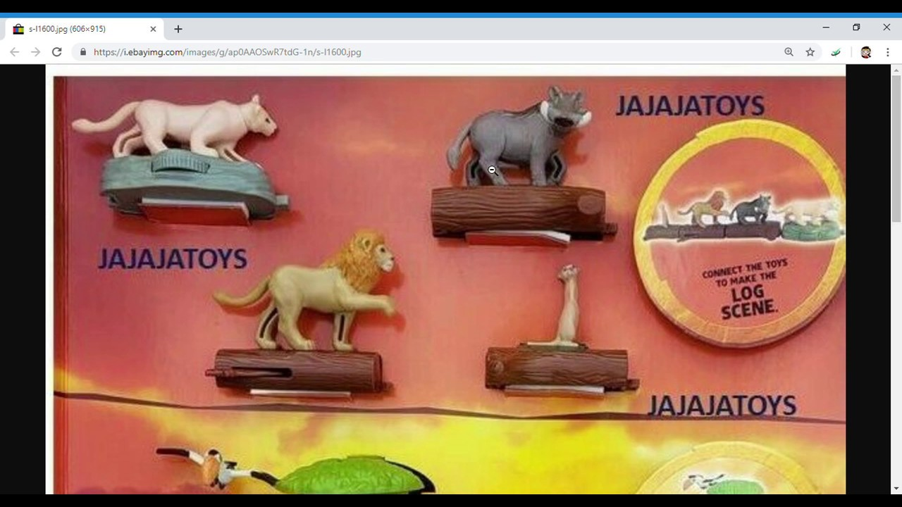 2019 Mcdonalds Disneys The Lion King Movie Happy Meal Toys Display First Look