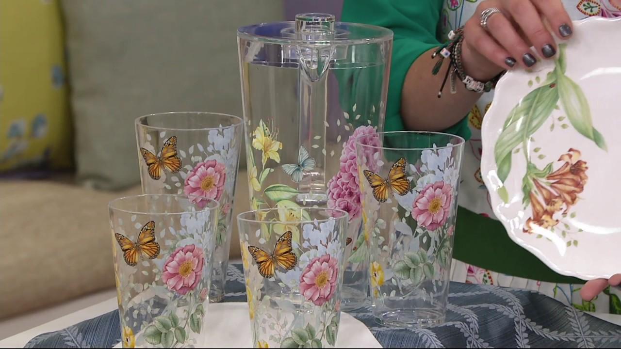 Lenox butterfly meadow melamine 12 piece dinnerware set on qvc lenox butterfly meadow melamine 12 piece dinnerware set on qvc reviewsmspy