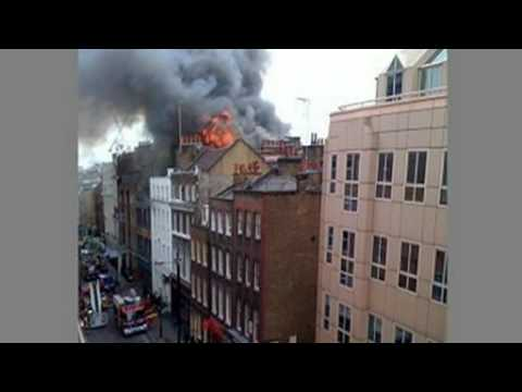 London's burning: Fire ravages Soho building